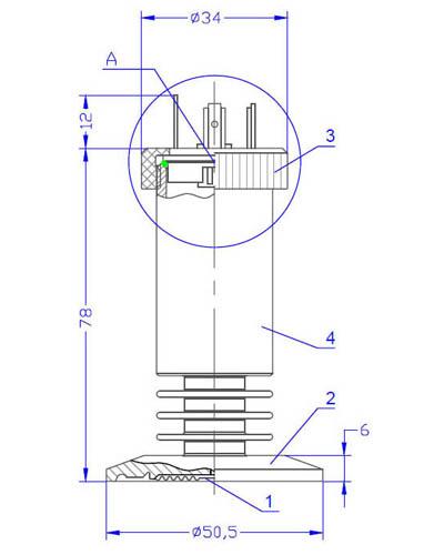 Манометр с внешней мембраной, серий из нержавеющей стали, для пищевой и фармацевтической промышленности, нр 100, 160 мм